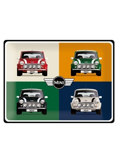 Nostalgic Art Mini - 4 Cars Pop Art Metal Pano Renkli